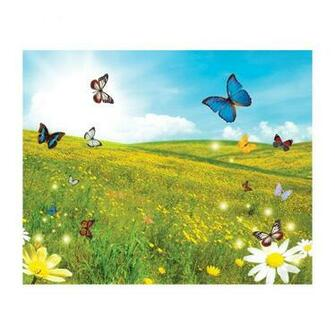 Butterfly Field Removable Full Wall Wallpaper Mural Lowes Canada
