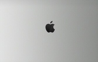 Apple Black and White HD Wallpaper For Mac