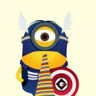 Cute Minion Captain America Trust Me Im A Superhero