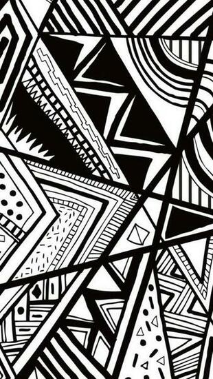 Black And White Doodle iPhone 5s Wallpaper Download iPhone