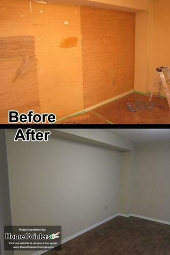 Removing wallpapers in an apartment in Toronto Mid town by
