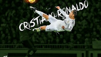 Download Cristiano Ronaldo CR7 Flying Shot Football HD Wallpaper