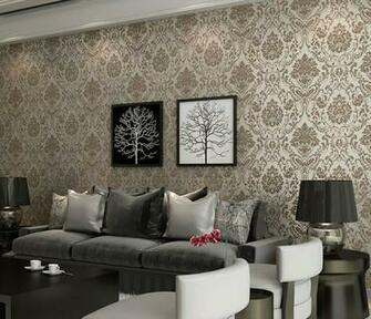 New Gilt Bronze Wallpaper Non Woven Damask European Vintage Wallpaper