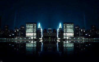 City Night Reflections Wallpapers HD Wallpapers