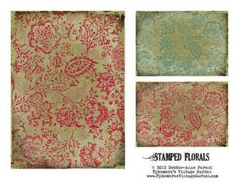 Ephemeras Vintage Garden Printable Floral Backgrounds