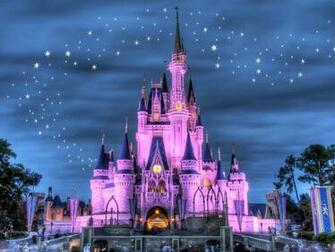 Cinderellas castle with fireworks screensaver with