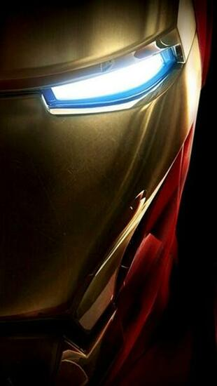 Ironman Half Face iPhone 5 Wallpaper 640x1136