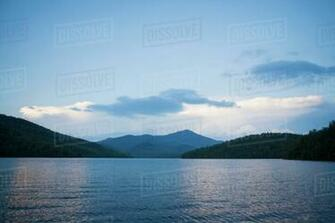 Lake Placid with Whiteface Mountain in background   Stock Photo