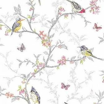 Decor Supplies White   98080   Phoebe   Birds   Trees   Blossom