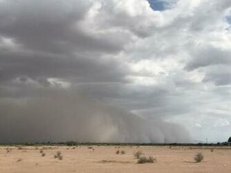 Mike Olbinski on Twitter Decent haboob moving towards Maricopa