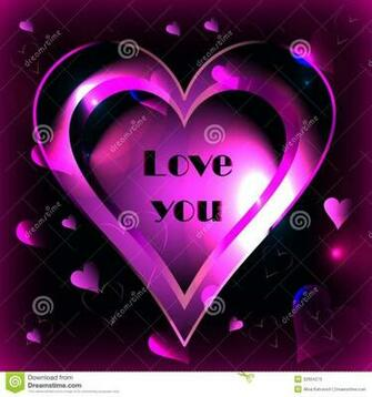 Pink Heart On A Black Background Vector Stock Photos   Image 32664273