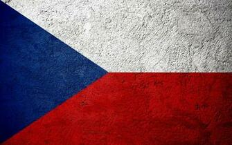 Download wallpapers Flag of Czech Republic concrete texture
