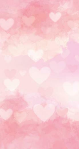 hearts pink hazy wallpaper background iphone hd WALLPAPER