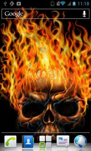 Related Pictures skull fire mobile wallpaper