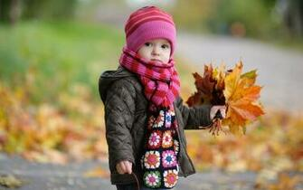 Cute Baby in Autumn Wallpapers HD Wallpapers