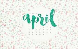 Wallpaper with April 2018 Calendar for PC iPad and SmartPhone