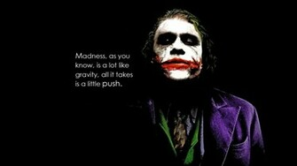 Introduce a little anarchy upset the established order and