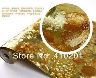 Gold wallpaper wall paper Big order Big Discount wallpaper roll