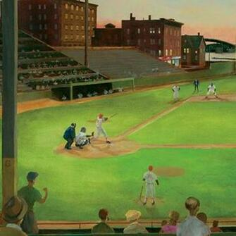 Baseball Field Stadium Large Sports Wallpaper Mural   Contemporary