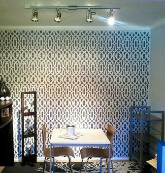 fashionable Trellis stencil design makes for an excellent wallpaper