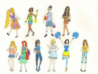 Modern Disney Princesses by K8 Haze