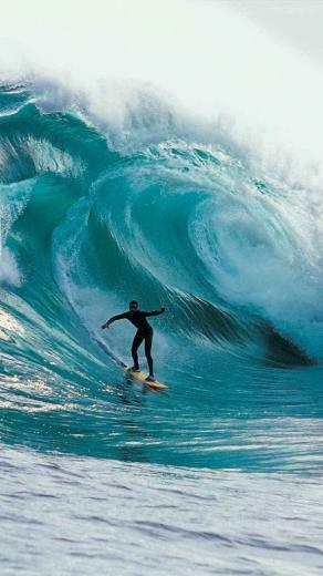 Big Wave Surfing Wallpaper   iPhone Wallpapers