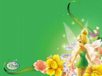 Wallpaper download Tinkerbell green background