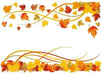 Vector Fall Leaf Border Tera Wallpaper