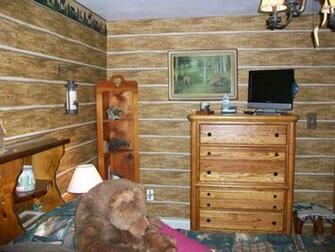 log cabin look wallpapered bedroom Ideas for Remingtons room P