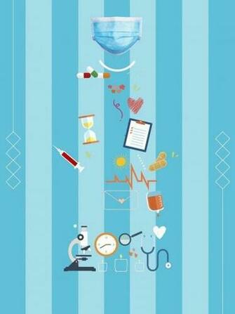 Cartoon Doctor Medical Health Poster Psd Layered Background