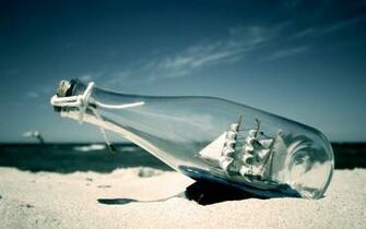 Beach Ship Desktop Wallpapers Bottled Beach Ship Desktop Backgrounds