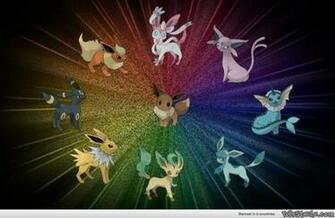 Wallpaper of the Eevee Evolutions   Pokestache