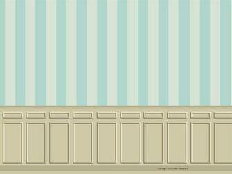 Printable roombox backdrop with beige wainscoting and a blue and beige