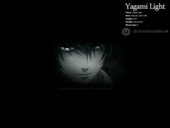 Light Profile Wallpaper   Light Yagami Wallpaper 1523214