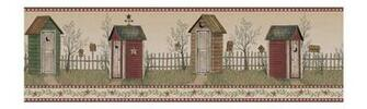 Outhouse Wallpaper Border BG1621BD primitive country bath decor