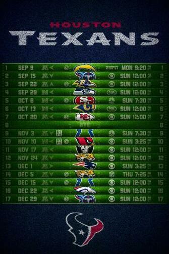 Houston Texans 2013 Football Schedule iPhone 4 Wallpaper 640x960