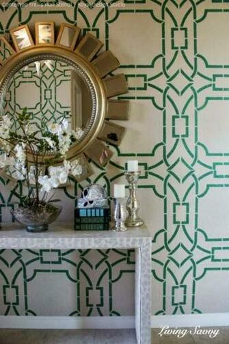 Living Savvy Contempo Trellis Wall Stencil by Royal Design Studio
