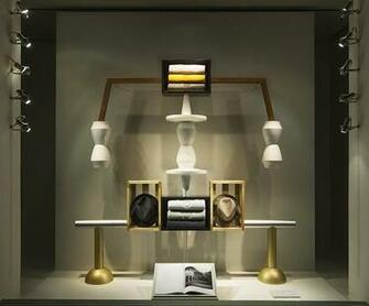 Designer Fotis Evans latest windows for Herms Madison Avenue store