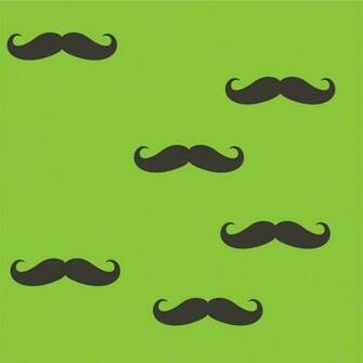 Mustache Removable Wallpaper by Wallcandy Arts   RosenberryRoomscom
