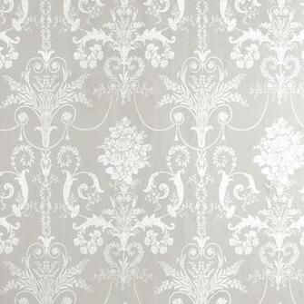 Home Decorating Wallpaper Josette WhiteDove Grey Damask Wallpaper