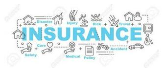 Insurance Vector Banner Design Concept Flat Style With Thin