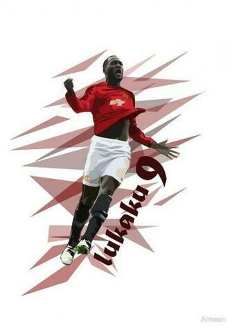 Lukaku   Manchester United Art by Armaan Design available on T