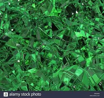 Emerald green material surface abstract 3d illustration