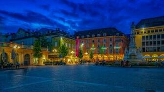 Desktop Wallpapers Italy Monuments Town square Bolzano 1366x768
