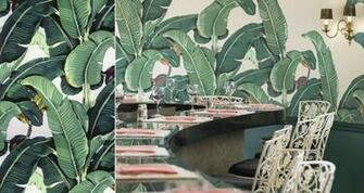 martinique banana leaf wallpaper beverly hills palm beach chic room