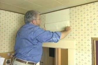 How to Remove Wallpaper Easily Ron Hazelton Online DIY Ideas