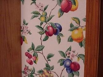 Fruit Wallpaper For Kitchen The kitchen had wallpaper