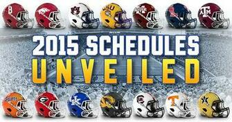 2015 SEC football schedule unveiled