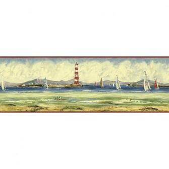 Sunworthy 6 78 Seashore Prepasted Wallpaper Border