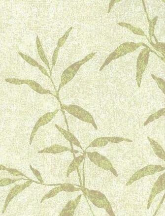 Asian Inspired Green Bamboo Leaf Wallpaper by WallpaperYourWorld
